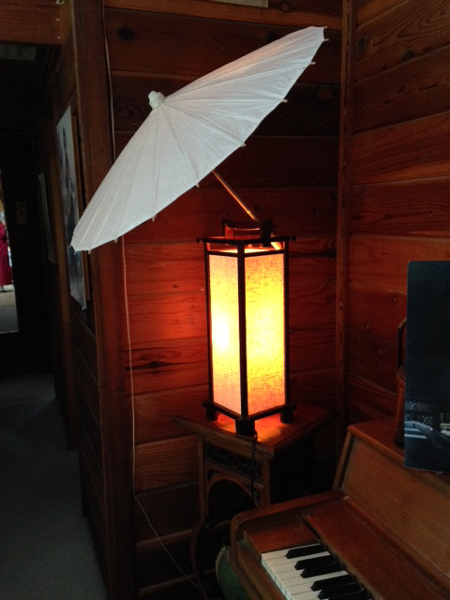 Lamp with parasol