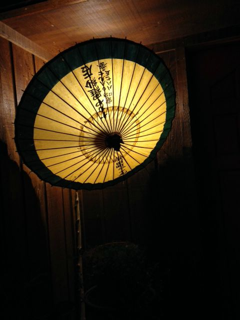Parasol at night 2