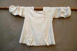White Silk Pocket Shirt by Patti Wells